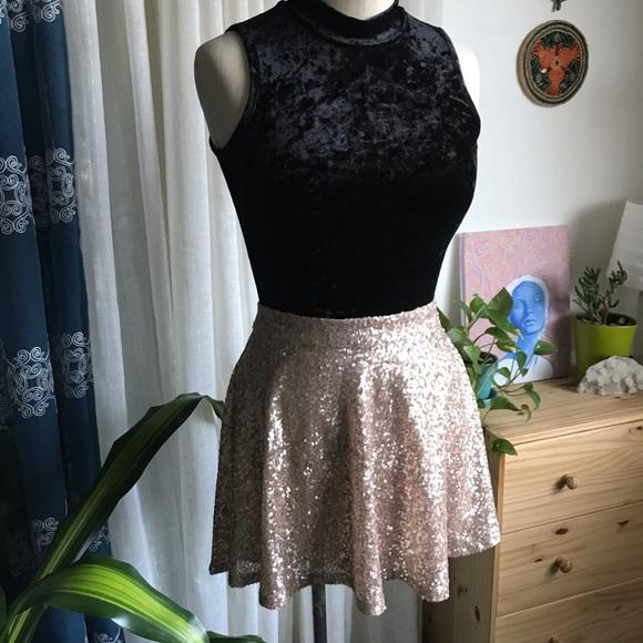 Bethany Mota - Sequined Skater Skirt - M